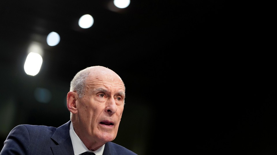 Director of National Intelligence Dan Coats testifies at the Senate Intelligence Committee hearing about worldwide threats.