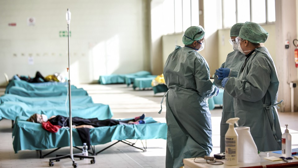 Medical personnel in Brescia, Italy