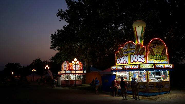 A corn-dog stand at the Iowa State Fair