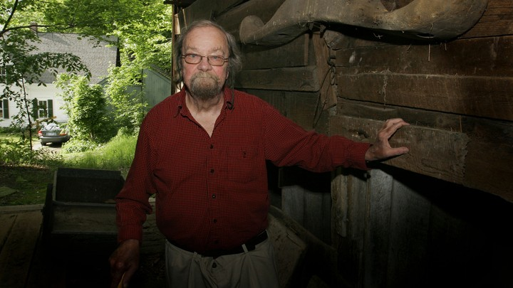 The late poet Donald Hall at age 77