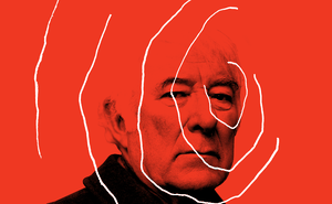 photo illustration of Seamus Heaney