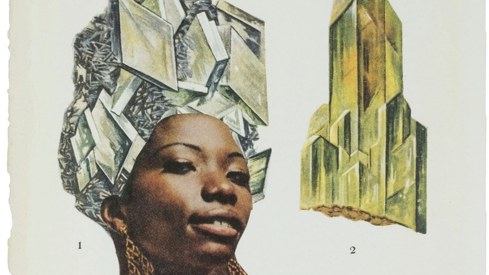 An interior shot from artist Lorna Simpson's new book of collages