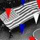 An illustration of triangles on top of the American flag.