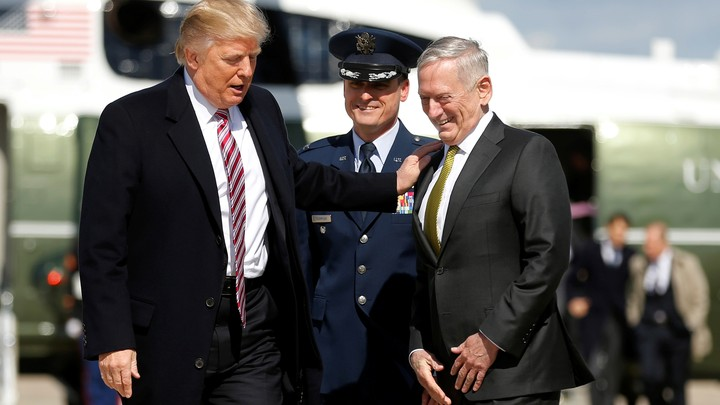 President Trump and Defense Secretary James Mattis