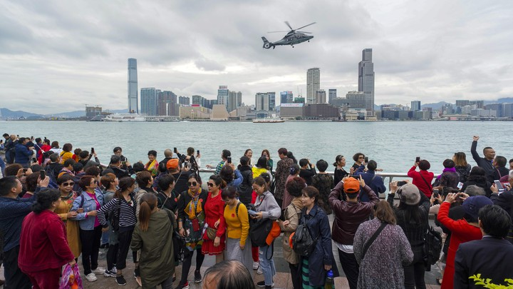 Tourists from the Chinese mainland visit Hong Kong.