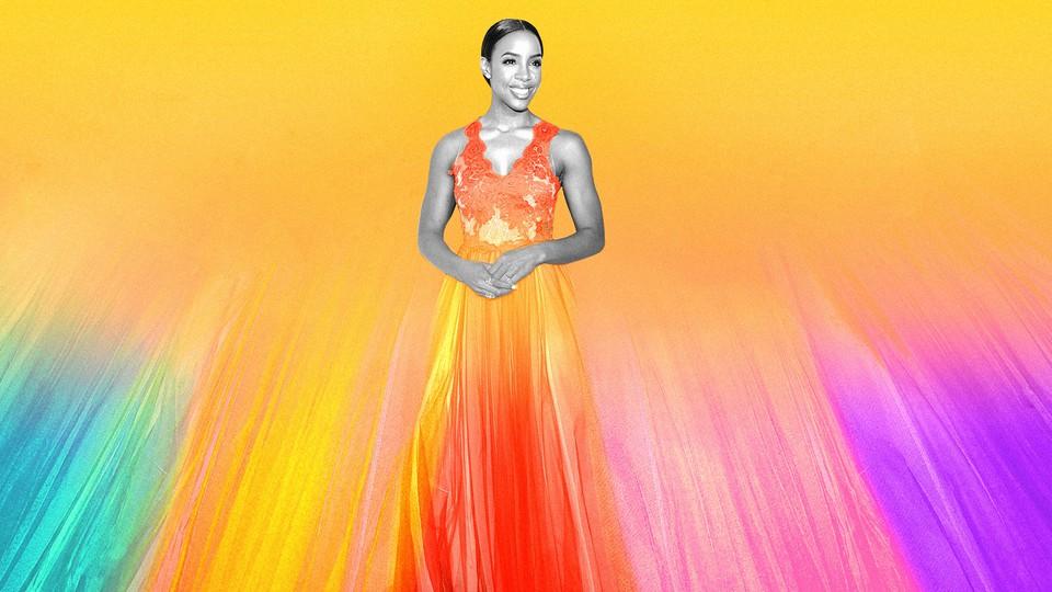 A photoillustration of Kelly Rowland