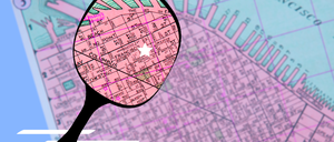 A photo-illustration of a map of San Francisco