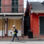 photo: empty streets of New Orleans