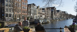 Homes in Amsterdam are pictured.