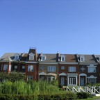 A row of homes under the Montreal sun.