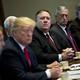 President Trump, Secretary Pompeo, Secretary James Mattis, and National-Security Adviser Bolton sitting at a table