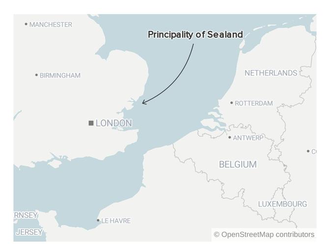 Una visita a Sealand, la nación más pequeña del mundo