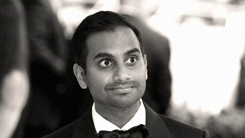 "Ansari arrives at the Metropolitan Museum of Art Costume Institute gala, ""Art of the In-Between,"" in 2017."