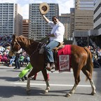 Calgary Mayor Naheed Nenshi during the 101st Calgary Stampede parade.