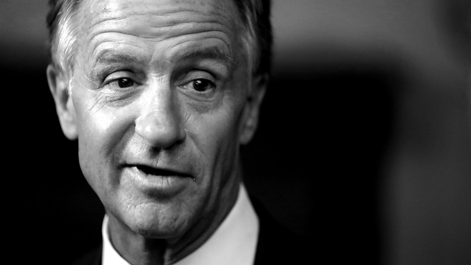 A black-and-white photo of former Tennessee Governor Bill Haslam