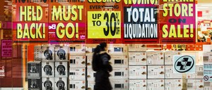 Signs for a liquidation sale