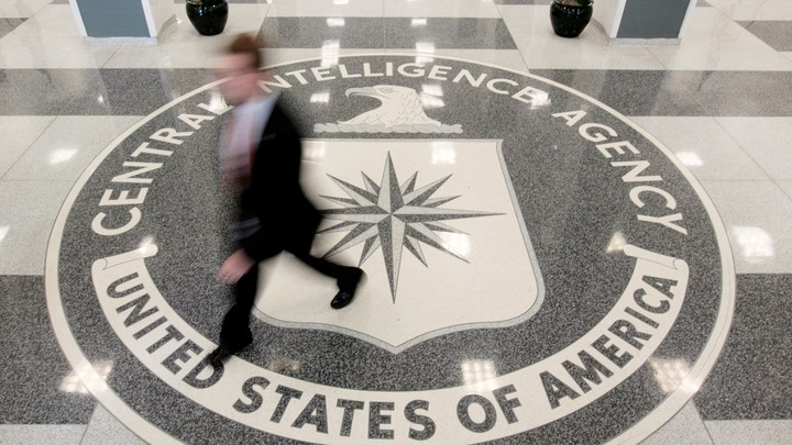The lobby of the CIA Headquarters Building
