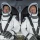 NASA astronauts Doug Hurley and Bob Behnken in the SpaceX capsule