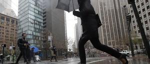 A photo of pedestrians in San Francisco