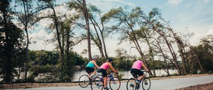 a photo of bike riders on the Cedar Valley Nature Trail in Iowa