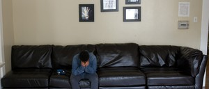 A young resident of a group home for foster children in Los Angeles.
