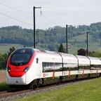 photo: a high-speed train in Switzerland