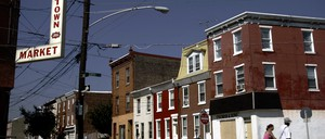 A street in Fishtown, a neighborhood in Philadelphia that has experienced gentrification.
