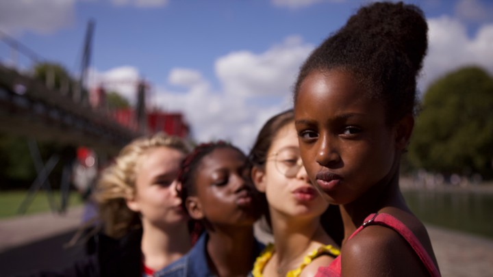 Four girls posing with kissing expressions