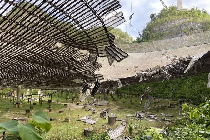 The Broken Arecibo Telescope Meets an Premature Finish