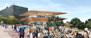A rendering of Melbourne's future Apple Store, which will be built in the city's Federation Square.