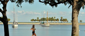 A jogger in St. Petersburg, Florida