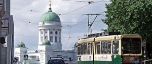 A tram in Helsinki.