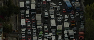 Traffic in Mexico City, where mega-commutes are a grim fact of life.