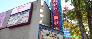The marquee at The Showbox in downtown Seattle.
