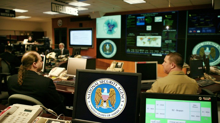 A view inside the NSA Threat Operations Center in Fort Meade, Maryland.