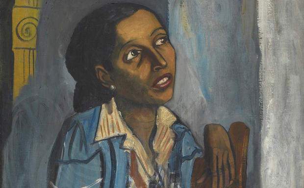 An Alice Neel painting depicts a woman in Harlem