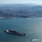 The San Francisco Bay, with Alcatraz Island in the foreground