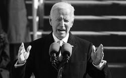 Joe Biden delivering his inaugural address