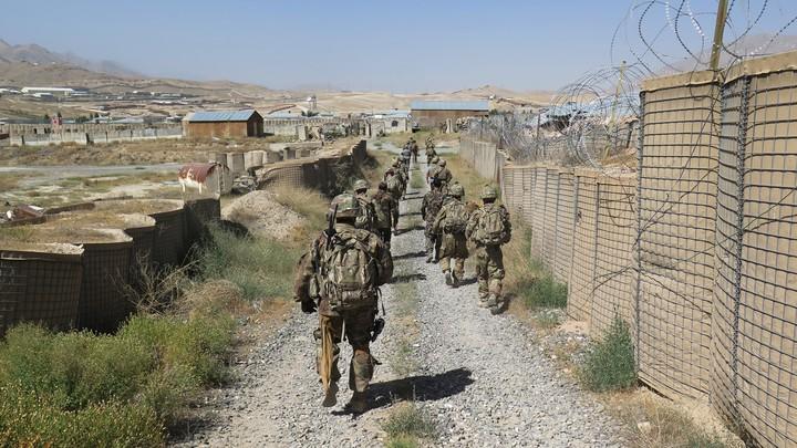 U.S. military advisers at an Afghan National Army base