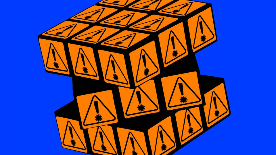 a rubik's cube representing coronavirus evolution