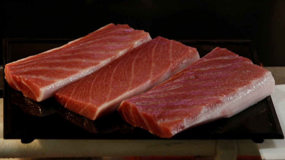 Bluefin tuna steaks