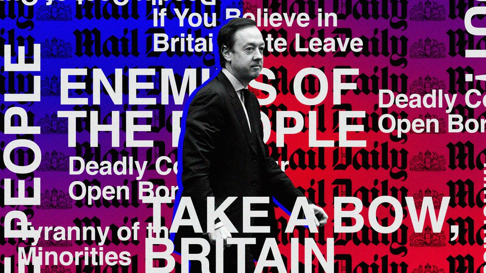 A photograph of Geordie Greig layered on top of the Daily Mail logo.