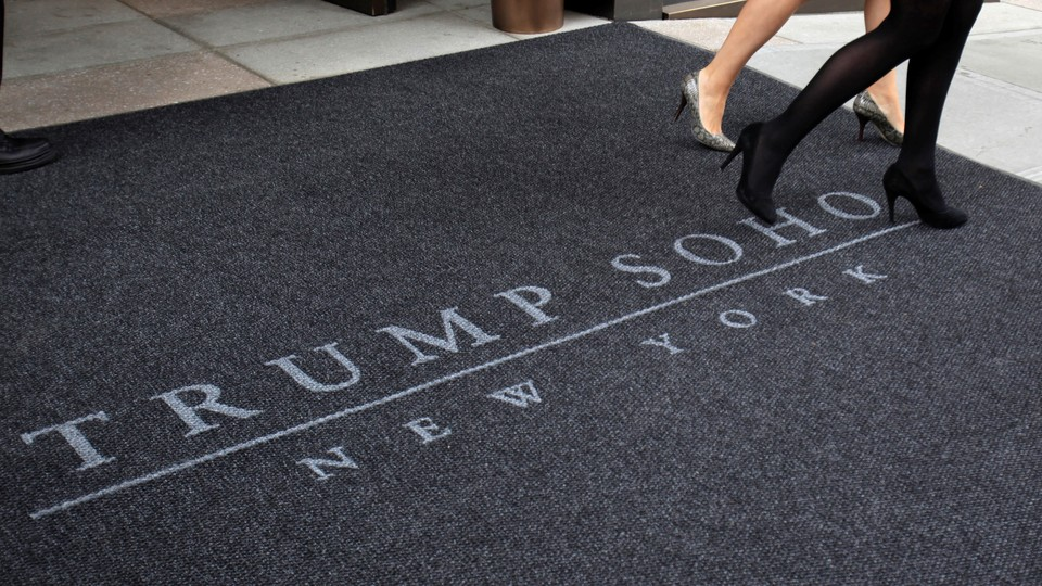 The entrance to Trump SoHo in New York