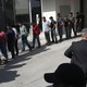 Undocumented immigrants leave a U.S. federal court in shackles in McAllen, Texas.