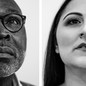 Photographs of 1. Willie Parker and 2. Candice Russell