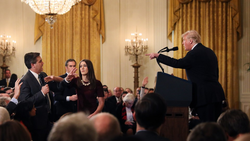 Trump and CNN's Jim Acosta at press conference after midterms