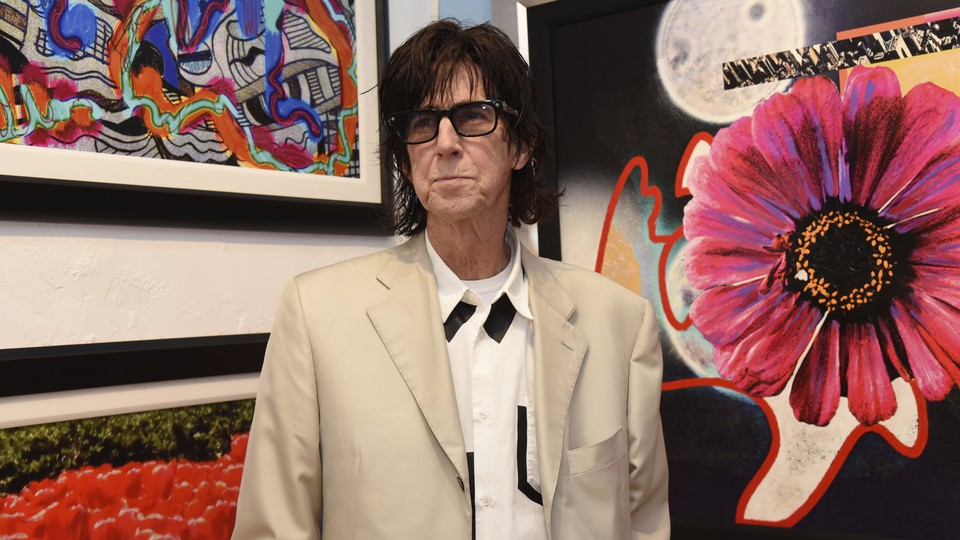 """Ric Ocasek attends a media event prior to his art show """"Abstract Reality"""" at Wentworth Gallery on Thursday, March 14, 2019, in Fort Lauderdale, Florida."""