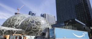 Amazon's Seattle headquarters is pictured.