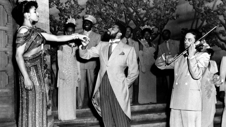 "A 1943 production of ""Carmen Jones,"" Oscar Hammerstein's rendition of ""Carmen"" in Black English"