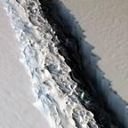 An ice shelf seen from above